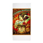 Chapel Tattooed Beautiful Lady Beach Towel