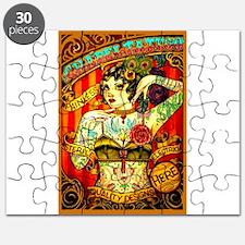 Chapel Tattooed Beautiful Lady Puzzle