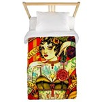Chapel Tattooed Beautiful Lady Twin Duvet