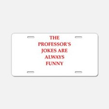 professor Aluminum License Plate