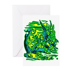 Mock Turtle & Gryphon Greeting Cards (Pk of 20)