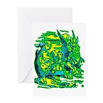 Mock Turtle & Gryphon Greeting Card