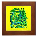 Mock Turtle & Gryphon Framed Tile