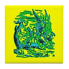 Mock Turtle & Gryphon Tile Coaster
