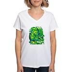Mock Turtle & Gryphon Women's V-Neck T-Shirt