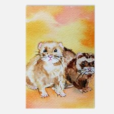 Funny Ferret art Postcards (Package of 8)