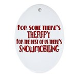 Some Have Therapy Oval Ornament