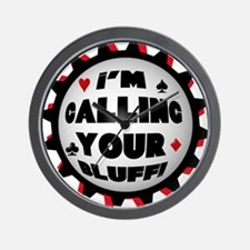 Calling Your Bluff Wall Clock