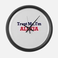 Trust Me, I'm Alexia Large Wall Clock
