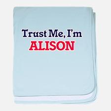 Trust Me, I'm Alison baby blanket