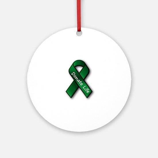 Donate Life Round Ornament