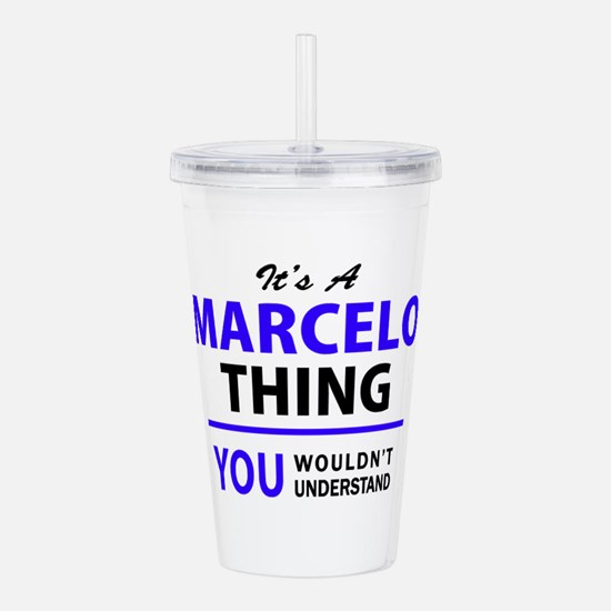 It's MARCELO thing, yo Acrylic Double-wall Tumbler