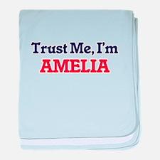 Trust Me, I'm Amelia baby blanket