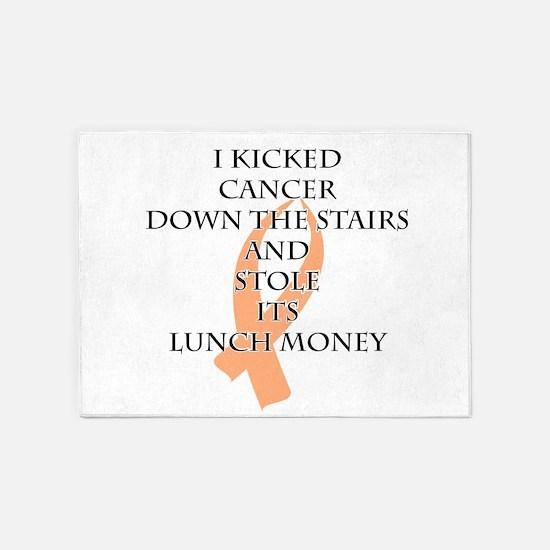 Cancer Bully (Peach Ribbon) 5'x7'Area Rug