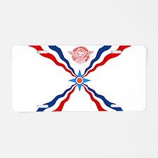 Assyrian Flag Aluminum License Plate