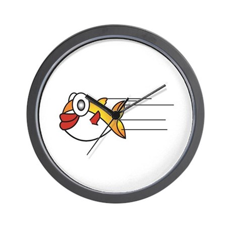 Cute little puffer fish wall clock by doonidesigns for Fish wall clock
