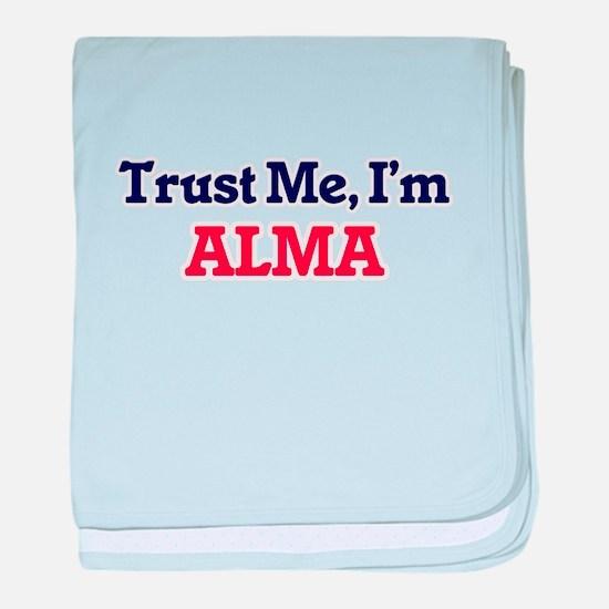 Trust Me, I'm Alma baby blanket