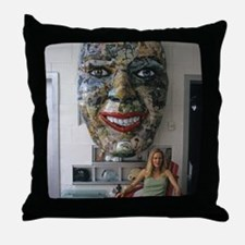 Metal Head Throw Pillow