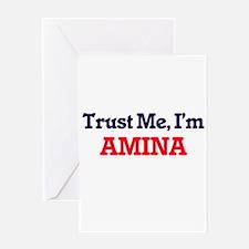 Trust Me, I'm Amina Greeting Cards