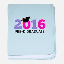 2016 Pre-K Graduate (Girls) baby blanket