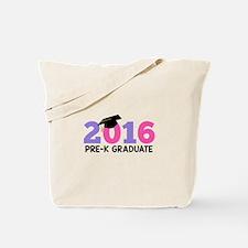 2016 Pre-K Graduate (Girls) Tote Bag