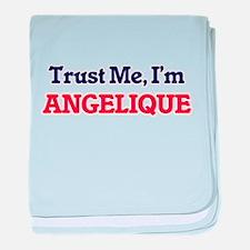 Trust Me, I'm Angelique baby blanket