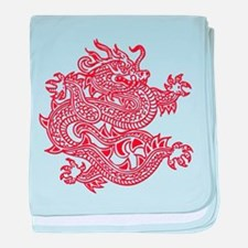 Chinese Dragon Red - DS baby blanket