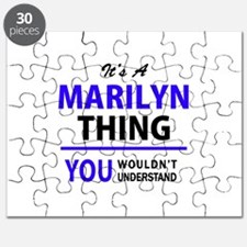 It's MARILYN thing, you wouldn't understand Puzzle