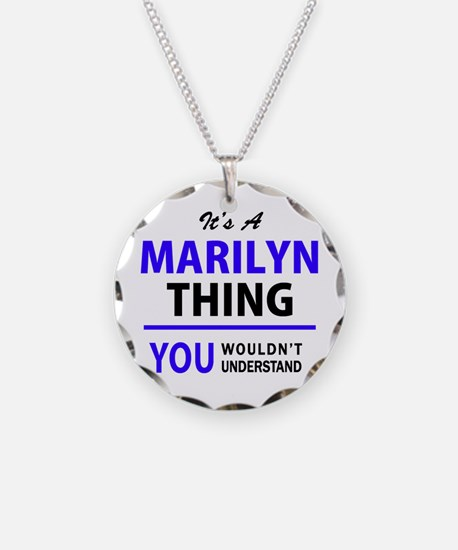 It's MARILYN thing, you woul Necklace Circle Charm