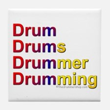 Drum-Drumming : Tile Coaster