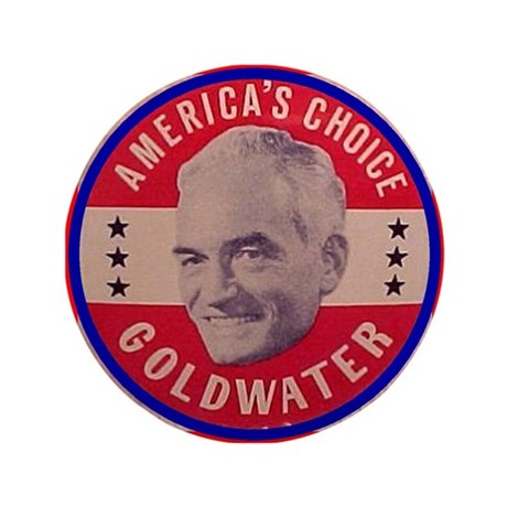 """Goldwater-1 3.5"""" Button"""