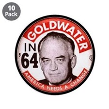 """Goldwater-2 3.5"""" Button (10 pack)"""