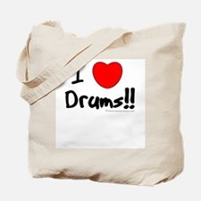 I Love Drums!! : Tote Bag