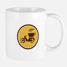 Coffee Delivery Motorcycle Circle Retro Mugs