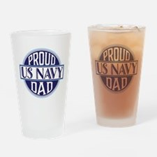Proud US Navy Dad Drinking Glass