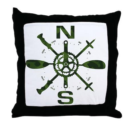 Adventure Compass Throw Pillow