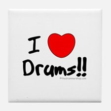 I Love Drums!! : Tile Coaster