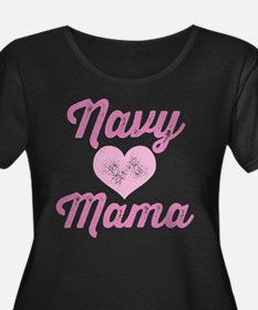 Navy Mama Pride Plus Size T-Shirt