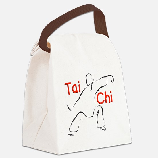 Funny Tai chi Canvas Lunch Bag