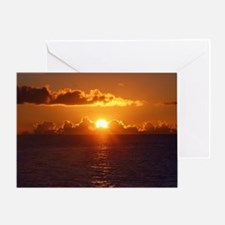 Funny Red sunrise Greeting Card