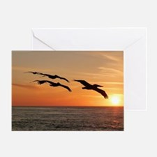 Cool Red sunrise Greeting Card