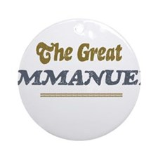 Immanuel Ornament (Round)