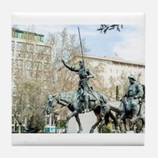 Spanish heroes Don Quixote and Sancho Tile Coaster