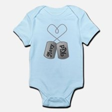 Navy Kid Dog Tags Body Suit