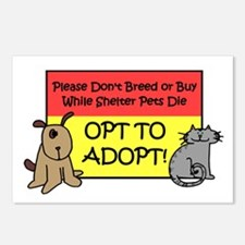 Don't Breed or Buy - Opt to A Postcards (Package o