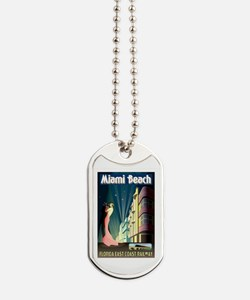 Cute Miami beach Dog Tags