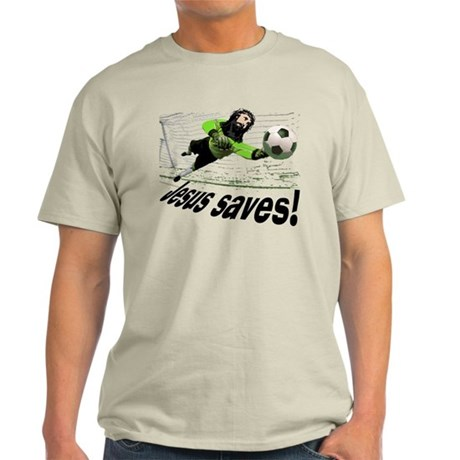 Jesus Saves soccer shirt | Light T-Shirt