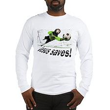 Jesus Saves soccer shirt | Long Sleeve T-Shirt