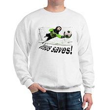 Jesus Saves soccer shirt | Sweatshirt