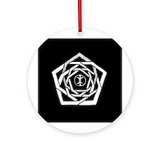 Reverse Erisian Mandala Ornament (Round)